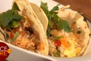 Eggs and Turkey Breakfast Tacos