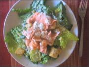Caesar Salad with Car- Steamed Salmon