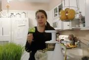 Juicing Wheatgrass in the Hurom