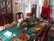Betty's Christmas Dinner Table 2011