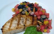 Blackened Grilled Swordfish