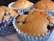 Microwave Cooked Blueberry Muffins