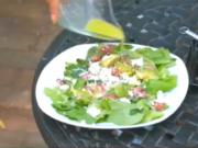 Wasabi Viniagrette Salad- Gardening By Cuisine
