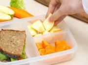 Preparing a healthy lunch for kids is important.