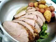 Roast Pork Loin With Browned Potatoes