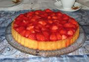 Strawberry Devonshire Pie