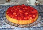 Strawberry Devonshire Pie