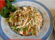 Fried Chicken With Vegetables In Mandarin Pancake