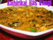 Kathirikai Rasavangi - Baby Eggplants in Spicy Tamarind Sauce