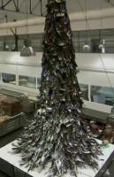 The giant Christmas tree at the laboratory