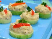 Herbed Cucumber Slices (Low Calorie) by Tarla Dalal