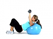 Incline Chest Press with Exercise Ball