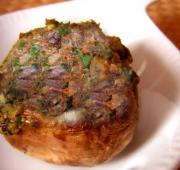 Meat Stuffed Mushrooms
