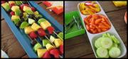 Rainbow Party Food in Different Colors