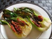 Grilled bok choy.