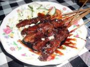 Pork Satays With Plum Sauce