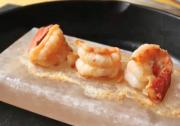 Shrimp Grilled On Pink Salt