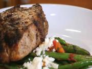 Mediterranean Grilled Pork Chops and Green Beans