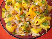 Tomango salad for breakfast in Carribean menu