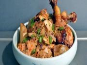 Korean Food: Kimchi Braised Chicken