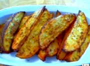 Crispy Skinned Herbed Potato Wedges