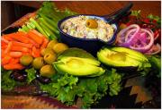 A healthy vegetable platter for healthy party food