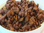 Betty's Peanut Butter Chocolate Snack Mix -- Superbowl