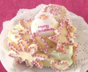 White Chocolate Coated and Cookie Jeweled Christmas Fruit Cake