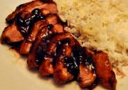 Plum Glazed Duckling Apricot Rice