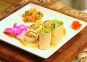 Korean-style Tortilla Wrap with Kimchi Salsa