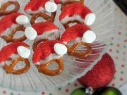 Santa's Pretzel Caps