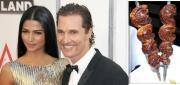 Mathew McConaughey and Camilla Alves served Brazilian food at their wedding feast.