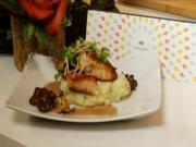 Chef Davis Denick makes Salmon with Chantrelle Mushrooms and Red Wine Butter Sauce.