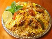 The Biriyani is less spicy, but has many distinct flavours