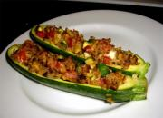 Zucchini With Pork Stuffing