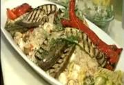 Pan Grilled Vegetables with Brown Rice
