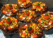 Red Confetti Halloween Cupcakes