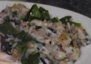 Spinach and Mushroom Wild Rice
