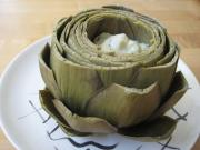 Artichoke with Pesto Mayonnaise Dip