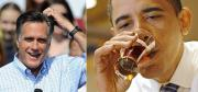 Beer guzzling Obama vs teetotaler Romney