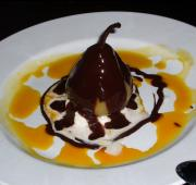 Pears In Chocolate Sauce