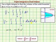 Use A Triple Integral To Determine Volume Ex 2