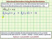 Find A Value Of A Directional Derivative