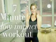 7 Minute Low Impact Cardio Workout Busy Babe Workout