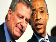 Mayor De Blasio Caught Between Protesters Nypd Stephen Collins Admission
