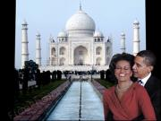 077 Obama And Michelle At Taj Mahal