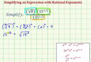 Simplify An Expression With A Radical And Rational Exponents