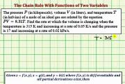 Application Of Chain Rule Of A Function Of Two Variables