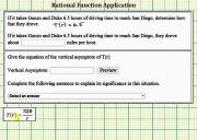 Rational Function Outputs And Inputs Application