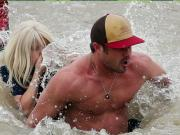 Lady Gaga Takes The Polar Plunge With Vince Vaughn